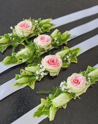 Bracelets fleurs mariage